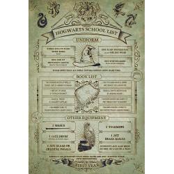 Poster Hogwarts School List